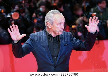 Udo Kier attends the 'Don't Worry, He Won't Get Far on Foot' premiere during the 68th  Film Festival Berlin at Berlinale Palast on February 20, 2018 in Berlin, Germany.