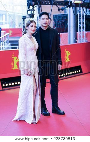 Shaina Magdayao and Piolo Pascual attend the 'Season of the Devil' premiere during the 68th  Film Festival Berlin at Berlinale Palast on February 20, 2018 in Berlin, Germany.