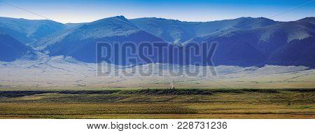 Yurt On The Mountain Plateau Of Assi. Almaty Region, Kazakhstan.