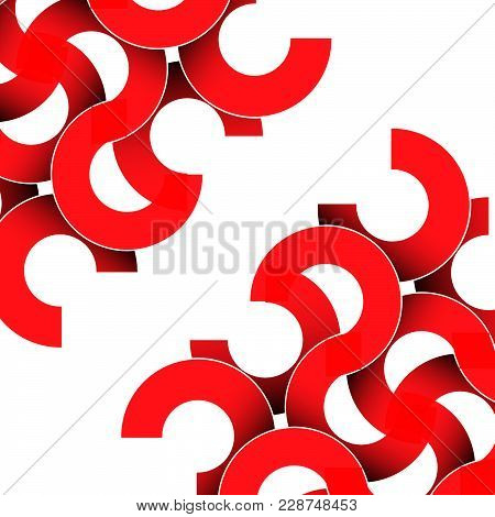 Geometric Colorful Abstract Background Template Design With 3 D Like Objects