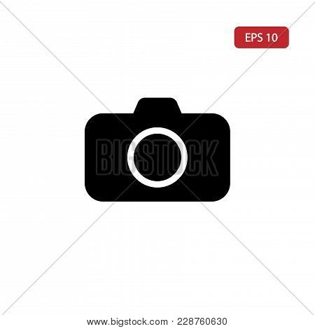 Photo Camera Vector Icon.camera Icon Eps10. Isolated On White Background.photo Camera Icon For Web A