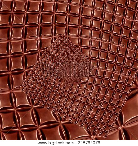 Abstract Chocolate Pattern.kaleidoscope Background. Digitally Altered Image.