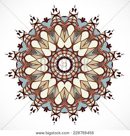 Vector Illustration With Abstract Rosette. Illustration 10 Version