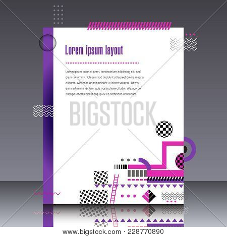 Frame For Text Modern Art Graphics For Hipsters Stylish Geometric Background . Element For Design Bu