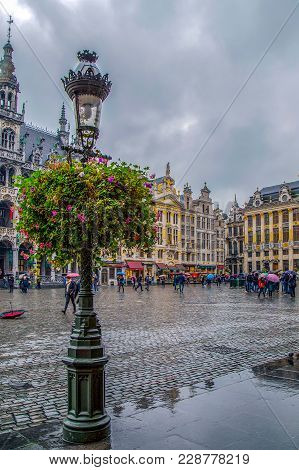 Grand Place With The House Of Dukes Of Brabant, One Part Of King's House And Guild Houses