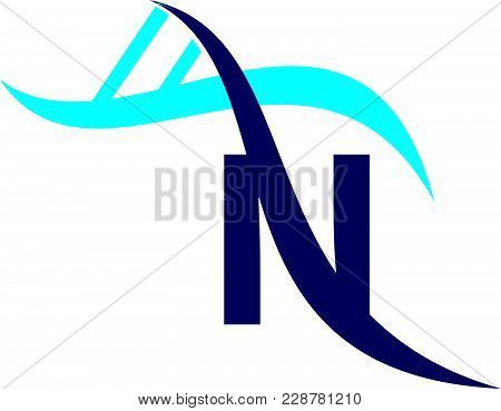 Letter N Dna Logo Design Template Vector Isolated