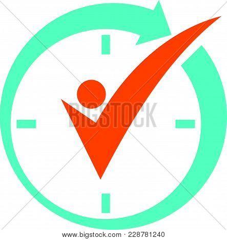 Time Management Logo Design Template Vector Logo Design Template Vector Isolated