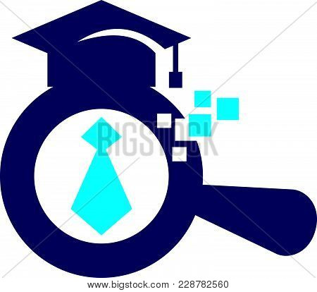 Searching Job For New Graduate Logo Template Vector Isolated