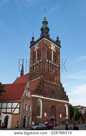 Gdansk, Poland - June 07, 2014: The Building Of The St. Catherine's Church. Is The Oldest Church In