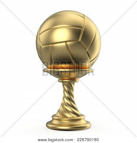 Gold Trophy Cup Volleyball 3D