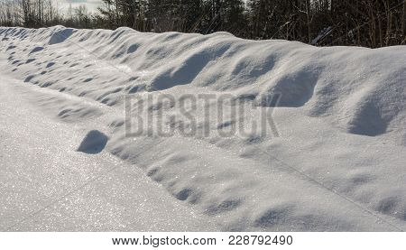The Texture Of The Brilliant White Snow.