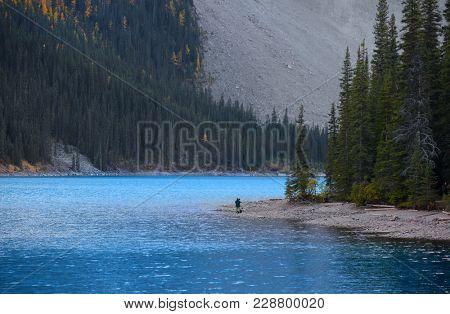 Moraine lake landscape in Banff national park