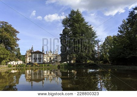 Vila Real, Portugal - September 22, 2017: Mateus Palace In Vila Real, Portugal, Home Of The Mateus R