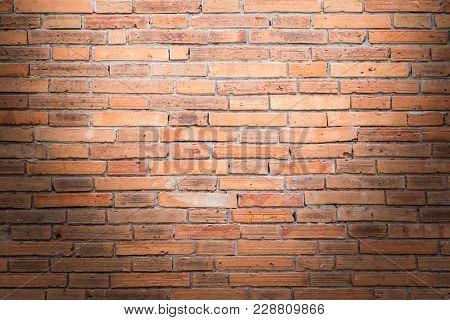 Brick Wall Texture Or Brick Wall Background. Old Bricks Wall Pattern. Brick Wall Building And Brick