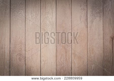 Wood Texture Table Top View. Old Wood Texture Background Surface. Vintage Wood Background. Old Wood