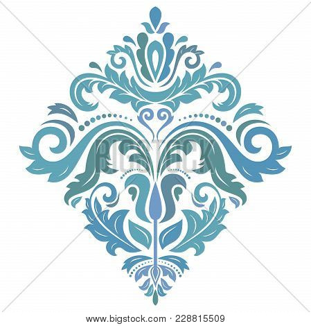 Oriental Vector Colorful Pattern With Arabesques And Floral Elements. Traditional Classic Ornament.
