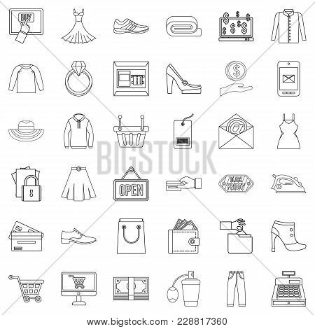 Wholesale Trade Icons Set. Outline Set Of 36 Wholesale Trade Vector Icons For Web Isolated On White