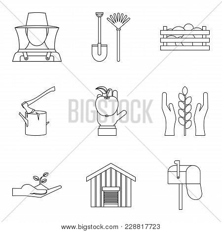 Members Of Household Icons Set. Outline Set Of 9 Members Of Household Vector Icons For Web Isolated