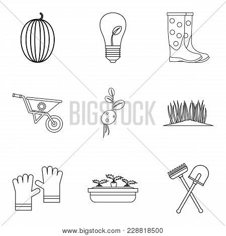 Fatherland Icons Set. Outline Set Of 9 Fatherland Vector Icons For Web Isolated On White Background