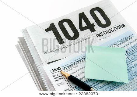 Tax Instructions, Form And Sticker.