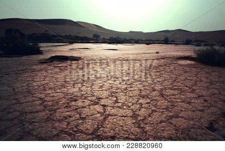 Drought land in african desert