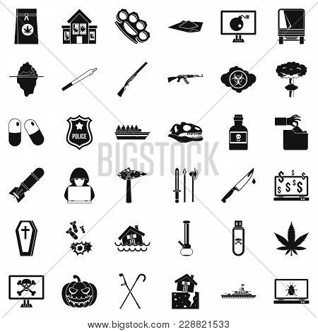 Heartlessness Icons Set. Simple Set Of 36 Heartlessness Vector Icons For Web Isolated On White Backg