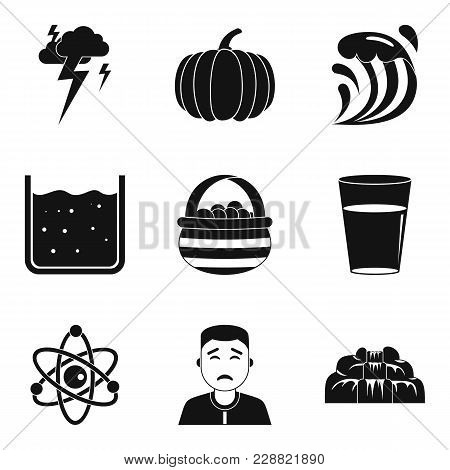 Deterioration In The Weather Icons Set. Simple Set Of 9 Deterioration In The Weather Vector Icons Fo
