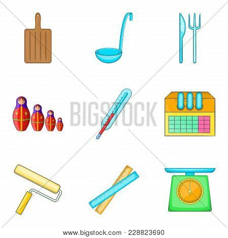 Homework Assignment Icons Set. Cartoon Set Of 9 Homework Assignment Vector Icons For Web Isolated On