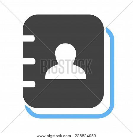 Book, Address, Pen Icon Image. Can Also Be Used For Business, Finance And Accounts. Suitable For Web