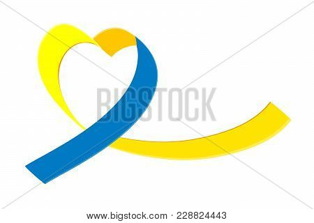 World Down Syndrome Day. Isolated On White Background. Vector Illustration