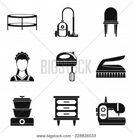 Lodging Place Icons Set. Simple Set Of 9 Lodging Place Vector Icons For Web Isolated On White Backgr