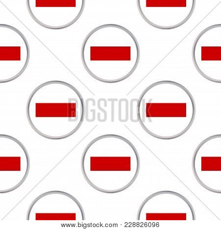 Seamless Pattern From The Circles With The Flag Of Sharjah And Ras-al-khaimah. Vector Illustration