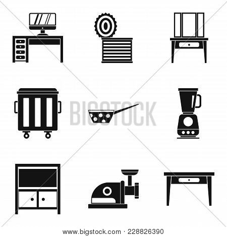 Sleeping House Icons Set. Simple Set Of 9 Sleeping House Vector Icons For Web Isolated On White Back