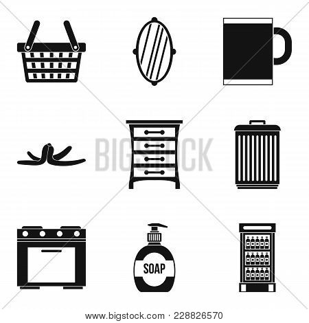 Indoor Rest Icons Set. Simple Set Of 9 Indoor Rest Vector Icons For Web Isolated On White Background