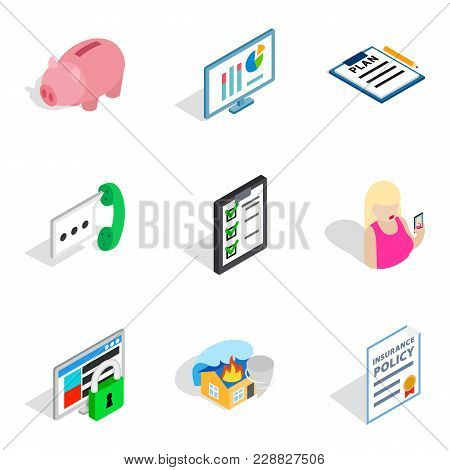 Specialists Of The Enterprise Icons Set. Isometric Set Of 9 Specialists Of The Enterprise Vector Ico