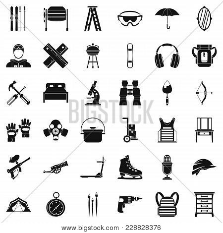 Accessory Equipment Icons Set. Simple Set Of 36 Accessory Equipment Vector Icons For Web Isolated On