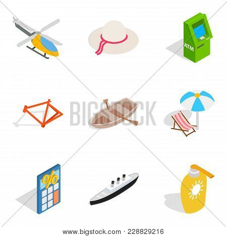 Variety Of Toys Icons Set. Isometric Set Of 9 Variety Of Toys Vector Icons For Web Isolated On White