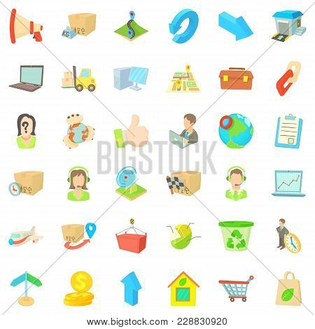 Complete Set Icons Set. Cartoon Set Of 36 Complete Set Vector Icons For Web Isolated On White Backgr