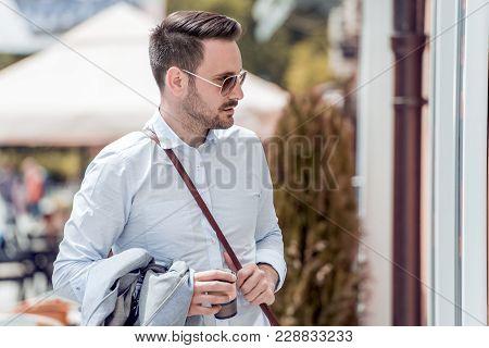 Young Businessman Enjoying A Beautiful Day