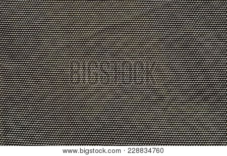 Texture Of Dark Industrial Nylon Fabric - Aviation Tarpaulin Close Up, Which Used In Industry, For M
