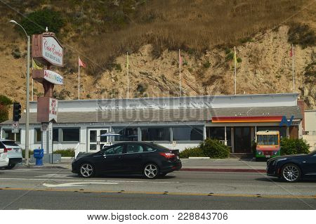 Malibu Inn Restaurant On Malibu Beach. Restoration Nature Landscape. July 4, 2017. Malibu California