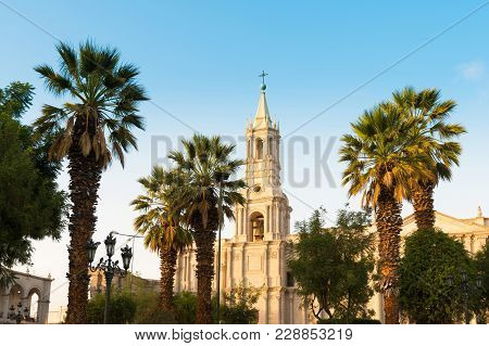 Arequipa Cathedral At The Main Square, Arequipa; Peru