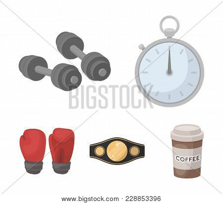 Boxing, Sport, Stopwatch, Watch .boxing Set Collection Icons In Cartoon Style Vector Symbol Stock Il