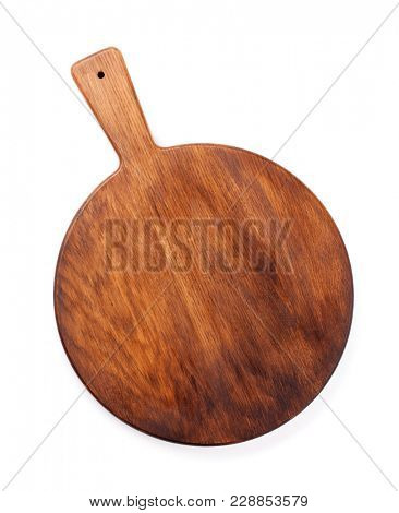 Cutting board. Isolated on white background. Top view