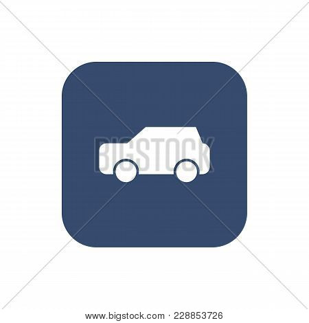 Car Icon Vector On Background. Vector Illustration.