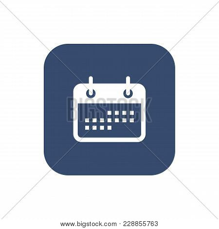 Calendar Flat Icon Picture. Minimalistic Design. Vector Illustration
