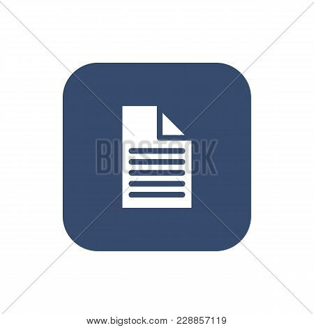 A Piece Of Paper Icon. Flat Design. Vector Illustration.