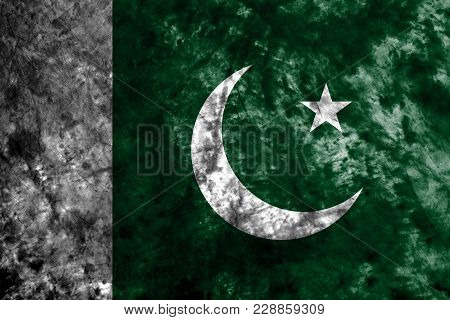 Pakistan Grunge Background Flag, Old Vintage Look