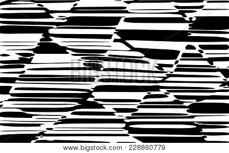 Abstract Lines Design With Black And White Stripes Vector, Stripes Fashion Texture, Zebra Print
