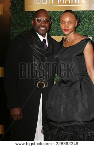 LOS ANGELES - FEB 27:  Chaz Guest, Lisa Butler at the 6th Annual ICON MANN Pre-Oscar Dinner at Beverly Wilshire Hotel on February 27, 2018 in Beverly Hills, CA